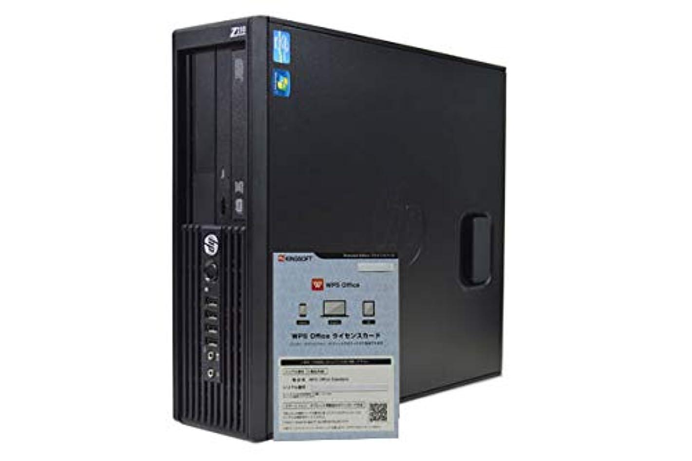 助言月曜日エンジニアデスクトップパソコン 【WPS OFFICE搭載】 HP Z210 SFF Workstation Xeon E3 1270 /8GB/1TB/DVDマルチ/NVIDIA Quadro 600/Windows 7