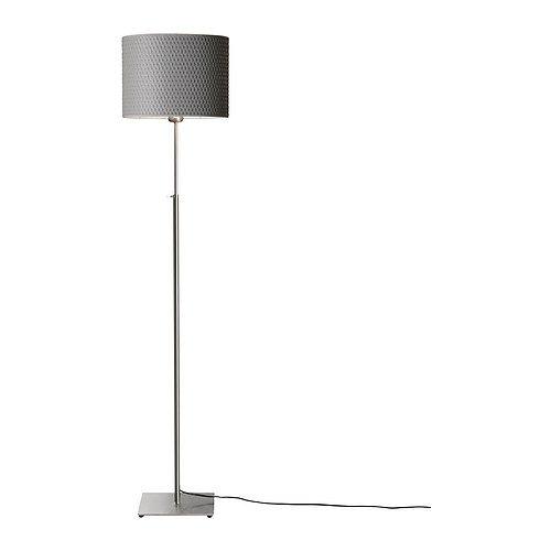 Ikea 001.908.30 Alang Floor Lamp, Nickel Plated Gray