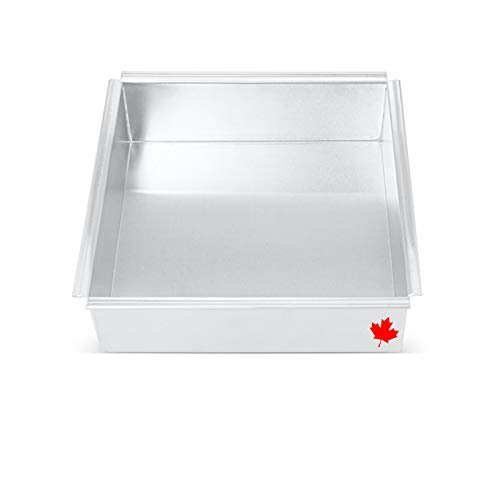Crown Square Cake Pan 6 inch, 3' Deep, Brownie Pan, Professional Baking Pan, Heavy Duty, Seamless Tight Corners, Pure Aluminum