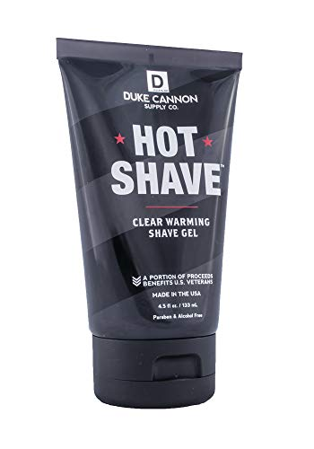 Duke Cannon Supply Co. - Hot Shave Clear Warming Shave Gel, Unscented (4.5 oz) Clear Shaving Gel for...