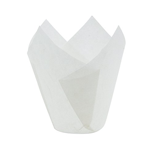 White Tulip Baking Cups, Mini Size, Pack of 250