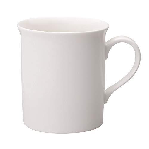 Villeroy & Boch - Twist White Kaffeebecher-Set 6tlg., zeitlos schöne Kaffeetassen aus Premium Porzellan, weiß, spülmaschinenfest, 300 ml