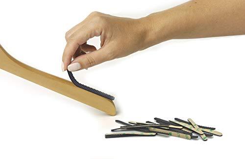 NOPPOR 3'' Non-Slip Hanger Strips Self Adhesive Anti Slip Grip Hanging Clothes Gripper