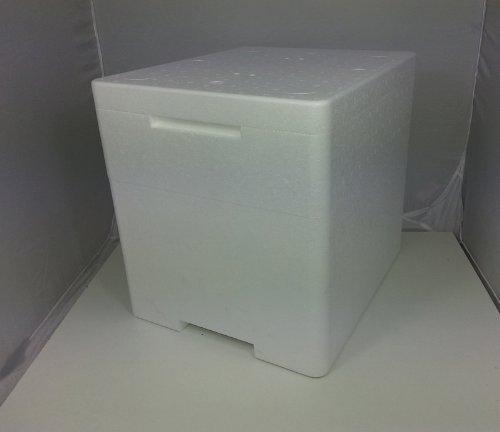 Terra-Discount Styroporbox Pro/Thermobox - 25,4 Liter - 39,5 x 33,5 x 36,5 cm/Wandstärke 3,5 cm - Styrobox