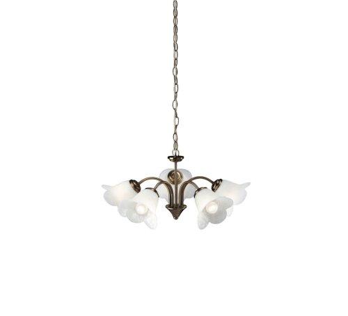 Massive Justina - Lámpara colgante flexible, E14, metal y vidrio, color bronce y blanco