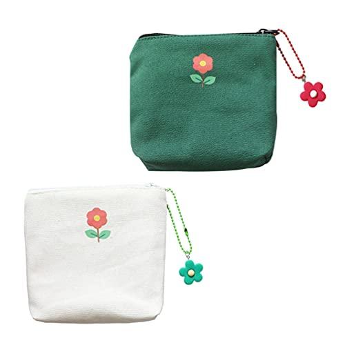 Hemoton 2 Pzas Bolsa de Almohadilla Menstrual Bolsa de Servilleta Sanitaria Tampones Recoger Bolsas para Período Monedero Bolsa de Maquillaje para Mujeres Niñas (Colores Surtidos)