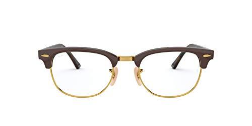 Ray-Ban Clubmaster Gafas de Lectura, Brown, 49 Unisex Adulto