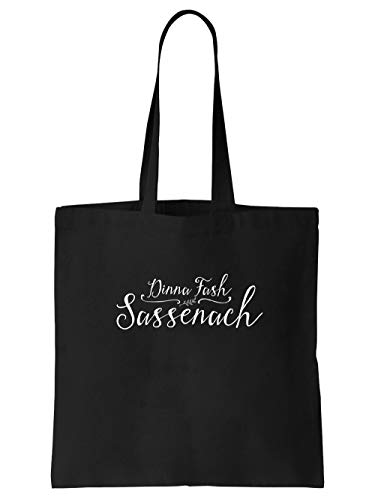 clothinx Dinna Fash Sassenach| Gälischer Schriftzug | Perfekt Für Roman und Serienfans Stoff-Tasche Schwarz