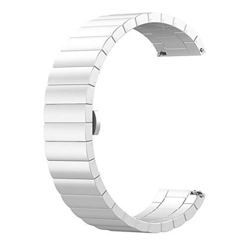 XXY Correa De Reemplazo De Pulsera De Acero para Amazfit GTR Smart Watch 47mm Pulsera Reloj Correa Fitness Tracker (Color : Silver)