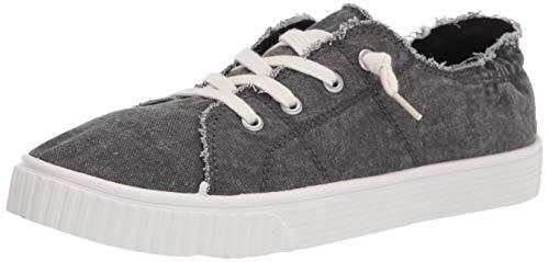 Madden Girl womens Marisa Sneaker, Black Washed, 7.5 US