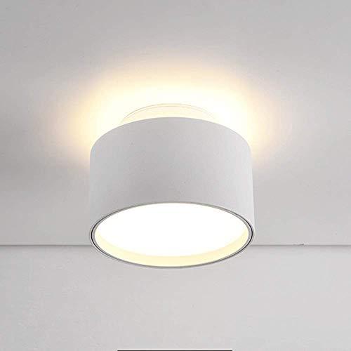 Downlight montado en superficie 12W Moderno Accesorio de iluminación COB Foco de montaje empotrado para interiores Luz de techo LED Lámpara individual redonda Nórdica Luz dual Sala de estar Pasillo Gu