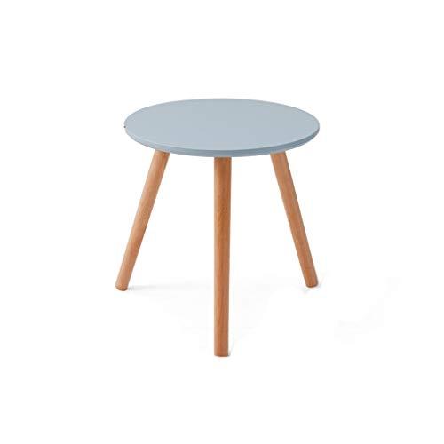 Mesa de mesa redonda de madera para negocios, diámetro grande, espacio grande, escritorio de ordenador de casa, oficina, dormitorio, balcón, mesa de té pequeña, 40 – 60 cm, madera, b, 50*50CM