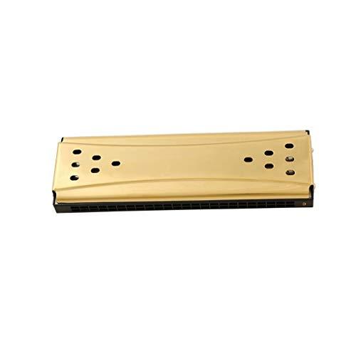 JJSFJH Doppelseitige, doppelt abgestimmten, zweiseitig, Zwei-Tuned, 24-Loch, C-Tuned, G-Ton Polyphonic/Monophonic Harmonica Autodidakt Adult Professionelle Leistung (Color : Gold)