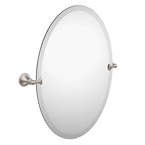 Moen DN2692BN Glenshire 26-Inch x 22-Inch Frameless Pivoting Bathroom Tilting Mirror, Brushed -
