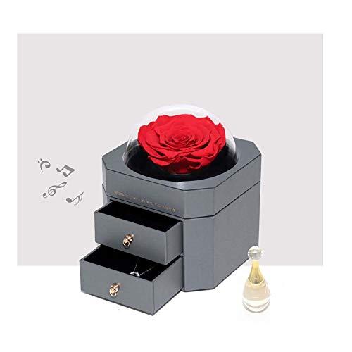 Panda Creatieve Gift Droge Eeuwige Bloem Gift Box Rose Box Glas Cover Doos Bloem Doos Geschenk Aangepast