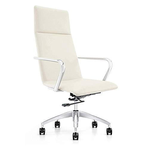 Silla ejecutiva de Oficina y Lounge con Ruedas de Gravedad y reposacabezas Plegable, Silla ergonomica giratoria para Juegos PU