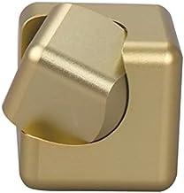 CNmuca Giroscópio de liga metálica de dedo quadrado giratório brinquedo de descompressão de cubo giratório brinquedo educa...