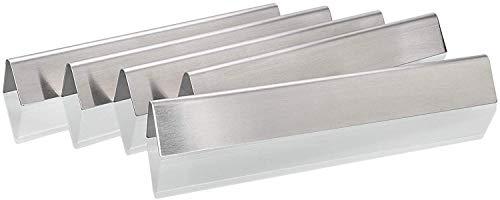 Denmay 7620 1,5mm Dicker Flavorizer Bars für Weber Genesis 300 Series E310 E320 E330 S310 S330 EP-310 EP-320 EP-330 Gas Grills (mit vorderen Bedienknöpfen), SUS304 Edelstahl Aromaschienen