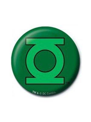 DC Comics Green Lantern Logo Button. Offiziell lizenziert