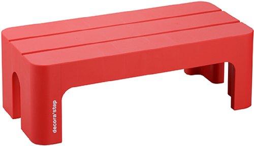 サンカ 踏み台 ステップ L レッド (幅59×奥行28×高さ20cm) デコラステップ DS-LRE 日本製