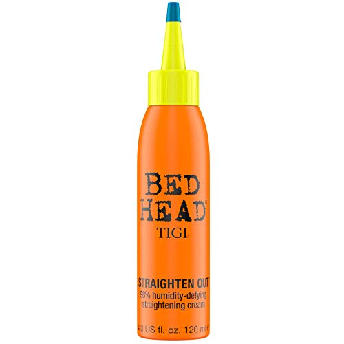 TIGI Bed Head Straighten Out 98% Humidity Defying Straightening Cream for Unisex, 4 Ounce