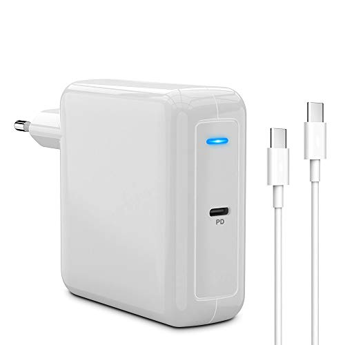 Eletrand USB C Charger 87 W PD Type C Power Supply Adapter Compatible with iPhone 11 Pro Max, MacBook Pro/Air, USB C Laptops, iPad Pro, Galaxy, Pixel and USB C Device with USB C Cable 6.6 ft