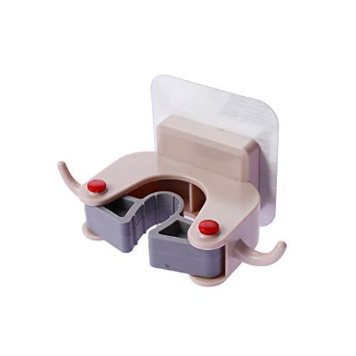 XOSHX (3 stuks) Mop Card Houder Zuignap Type Sterke Niet-Markering Lijm Mop Houder Bezem Rack Hanger Mop Clip Haak