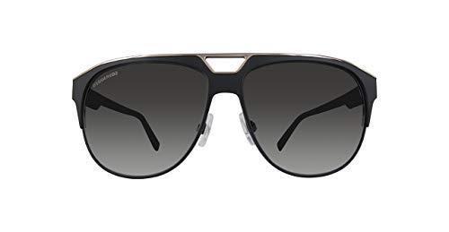 Dsquared DQ0205 DQ0205-01B-Schwarz Aviator Sonnenbrille 60, Schwarz