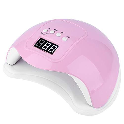 Lámpara para secador de uñas, secador de uñas, luz UV/LED duradera, fuente de luz doble de 48 W para el hogar(Pink)