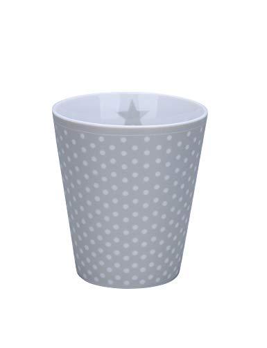 Krasilnikoff Happy Mug, Micro dots, Grey