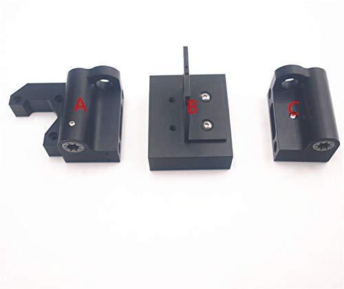 Accessori per stampante per Prusa i3 MK2 / MK3 Aggiornamento colore nero Kit motore X in alluminio / kit tenditore X Asse X in metallo Kit estrusore carrello Accessori per stampa 3D (Dimensioni: A)