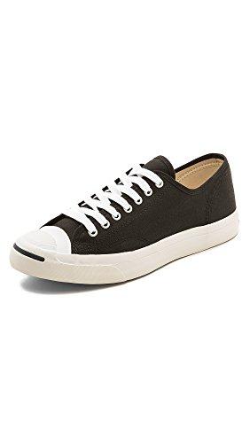 Converse Men's Jack Purcell Canvas Sneakers, Black, 8.5 Medium US