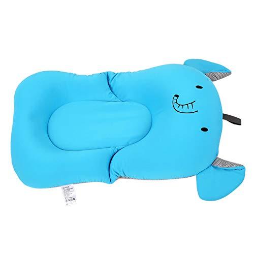 Tina de baño flotante del bebé, caja fuerte lavable cómoda de la tina de baño del bebé(blue, Elephant without hook)