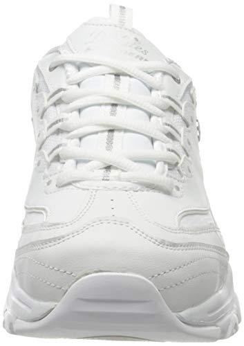 Skechers D'Lites-Fresh Start, Zapatillas Mujer, Multicolor (WSL Black Leather/Mesh/Charcoal Trim #ll), 38 EU