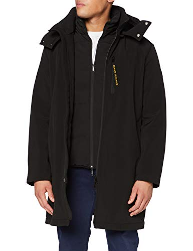 Armani Exchange Mens Trench Jacket, Black, S