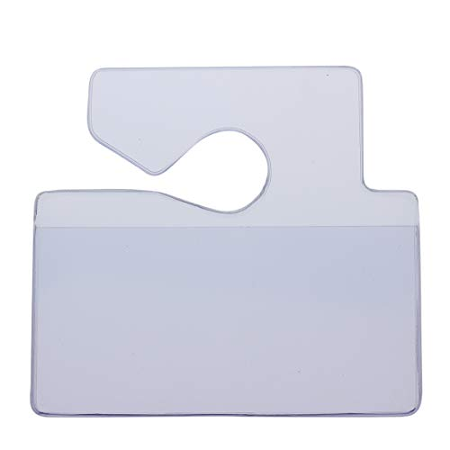 Clear Horizontal Vehicle Parking Permit Pass Hanger Tag Holder - Hangs from Car Rear View Mirror - by Specialist ID, Sold Individually Photo #2