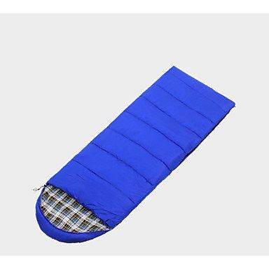 ZYT Sac de couchage Rectangulaire Simple -15 --- -5 Coton creux 400g 190cmX75cm Camping / Voyage / Outdoor / IndoorPerméabilité à . blue