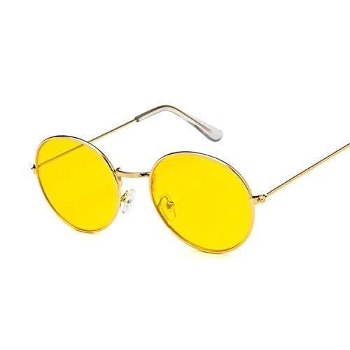 IRCATH Gafas de Sol Redondas Vintage para Mujer Gafas de Sol Retro para Mujer Gafas de Sol pequeñas con Espejo para Mujer Se Pueden Utilizar para la Pesca de Golf-C3