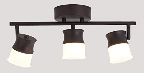 Track Light Fixture for Kitchen and Hallway, Flush Mount Track Light with Rotatable Head, LED 3000K 18W Dimmable, ORB Finish.