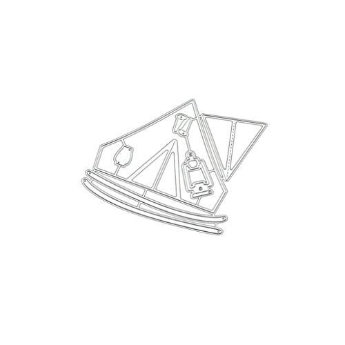 Koobysix Stanzschablone, Scrapbooking Prägeschablonen Stanzformen Schablonen Für Scrapbooking, Fotopapier, Karten, Handwerk Prägen DIY Herstellung Geburtstag Geschenk,Hütten für Zelte