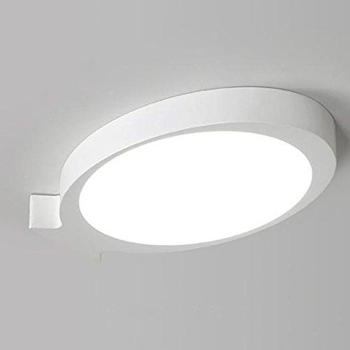 GPZ-iluminación de techo Luz de techo en forma de pez de arte Led moderno, lámparas de dormitorio creativo Luz de techo romántica cálida luces de habitación de niño [Clase energética A ++]