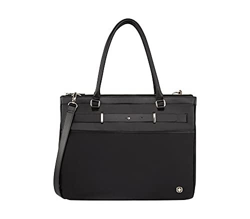 Wenger Zoe Laptoptasche - Handtasche mit 16'' Laptopfach 10'' Tabletfach erweiterbar Damen - Schwarz