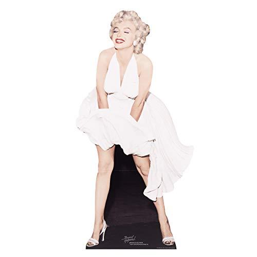 STAR CUTOUTS - Stsc279 - Figurine Géante - Marilyn Monroe - Robe Blanche 157 Cm