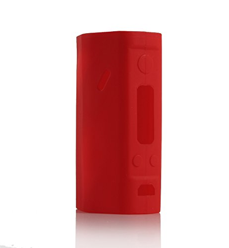 Wismec Reuleaux RX200 RX 200 Silicone Protective Gel Skin Case Cover Fits for Wismec DNA200 DNA 200 TC Vw Box Mod (Red)