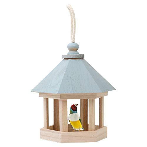 Comedero colgante para pájaros en forma de casa de pájaros en forma...