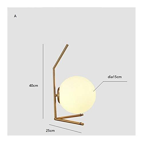 ZXC Home Moderne Scandinavische tafellampen met LED creatieve glazen bol tafellamp minimalistische retro bureaulamp vintage loft studio slaapkamer bedlampje
