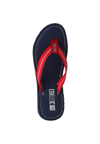 Ethletic Unisex Sandalen Fair Flip Classic Ocean Blue | Cranberry red 42 Fair | Vegan | Nachhaltig