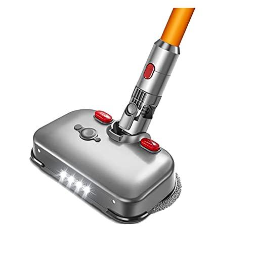 XIAO YANG Piezas de aspiradora Cabeza Seca Seca eléctrica para Dyson V7 V8 V10 V11 Piezas reemplazables con el Tanque de Agua MOP Head Pads y Luces LED Cocina (Color : Burgundy)