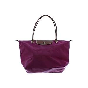 LONGCHAMP ロンシャン トートバッグ レディース 紫x茶_0621 - 【中古】
