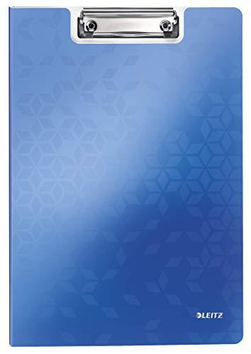 Leitz 41990036 Klemmmappe WOW, A4, blau metallic